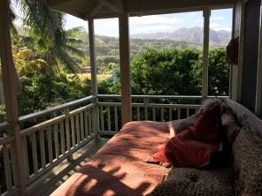 Kauai Hawaii - Kilauea - unsere Veranda in der Unterkunft