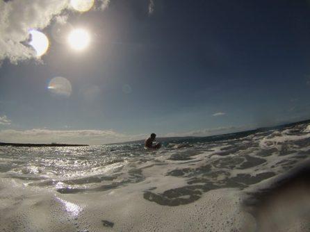 Versuch aus dem Wasser zu kommen - rückwärts !