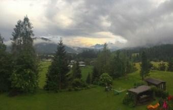 Leutasch - Ausblick aus der Ferienwohnung ins Tal