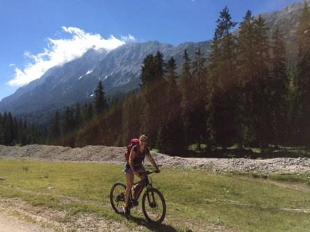 Leutasch - mit dem Mountain-E-Bike unterwegs
