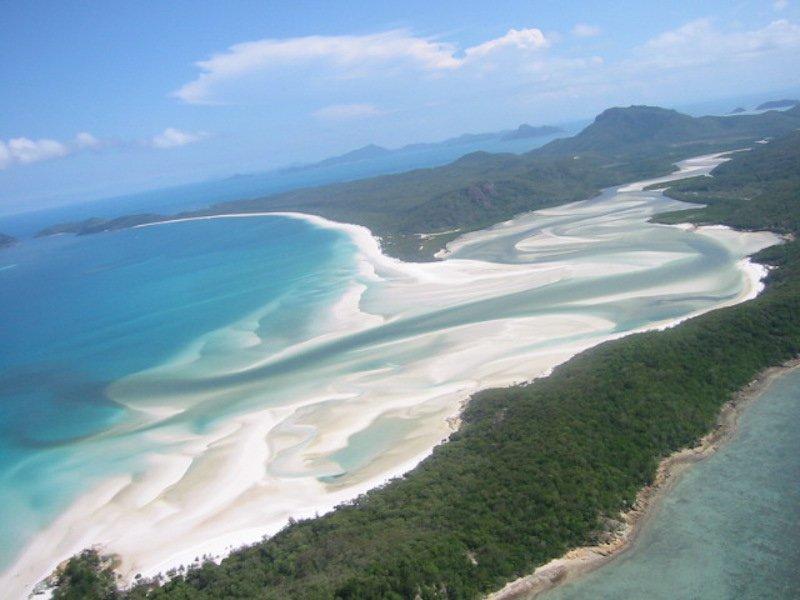 Australien - Whitsundays an der Ostküste aus dem Helikopter