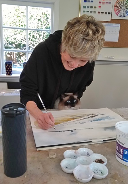 Laurie McAmmond at work