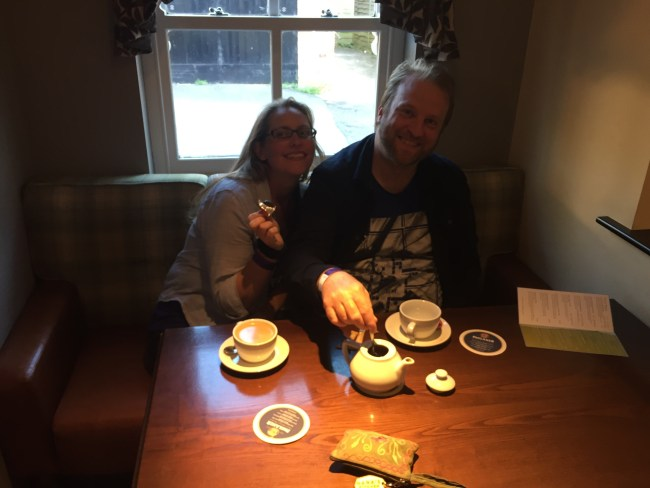 Meanwhile, whilst nipping to the bar I found Adam and Ann having a crafty cup of tea!