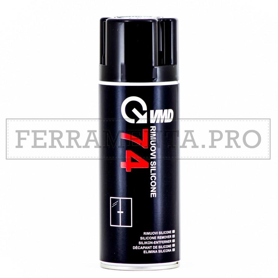 Rimuovi Elimina Sciogli Silicone Solvente Vmd74 Spray 400ml Vetro Plastica Superfici Ceramica Piastrelle