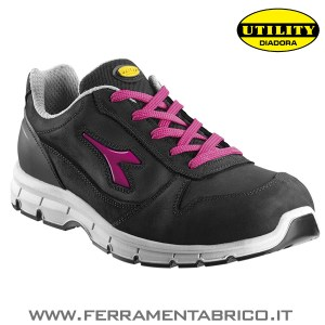 SCARPE ANTINFORTUNISTICHE DIADORA RUN - NERO-VIOLA