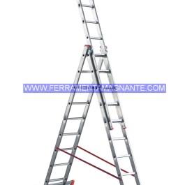 SCALA PARALLELA 3 RAMPE H.CM 190/320/400 PIOLI 3X7