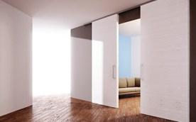 Sistema scorrevole per porte in legno design