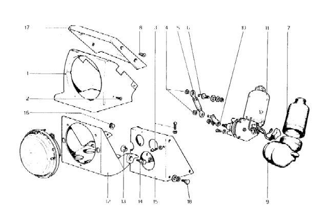 ferrari 308 wiring diagram headlight