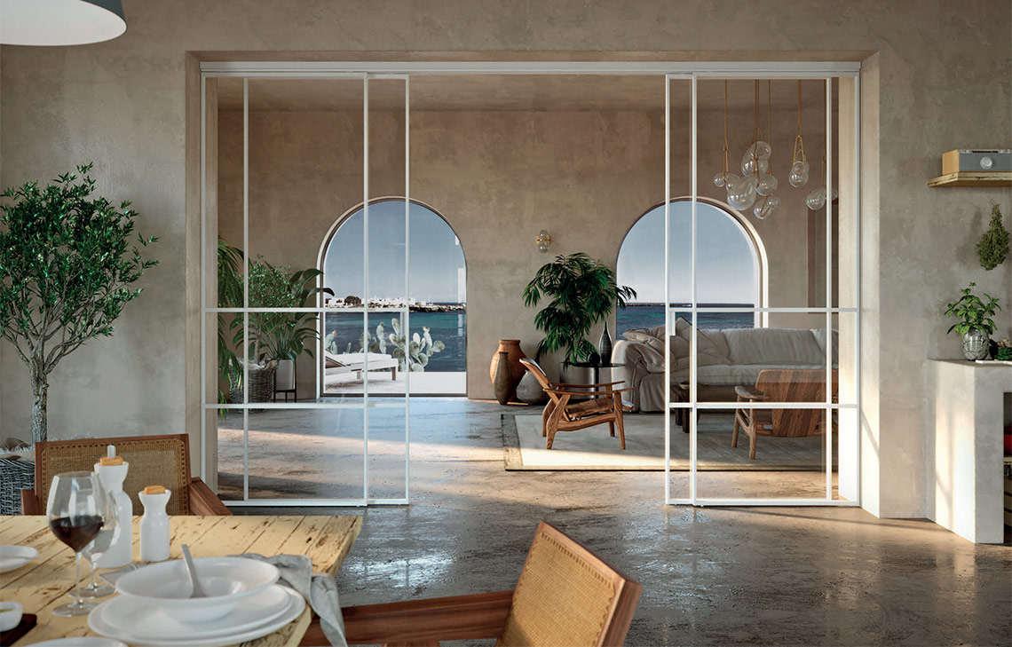Una porta scorrevole tra cucina e soggiorno, open space con vetrata e. Come Coniugare Il Concetto Di Open Space Con L Utilizzo Di Porte