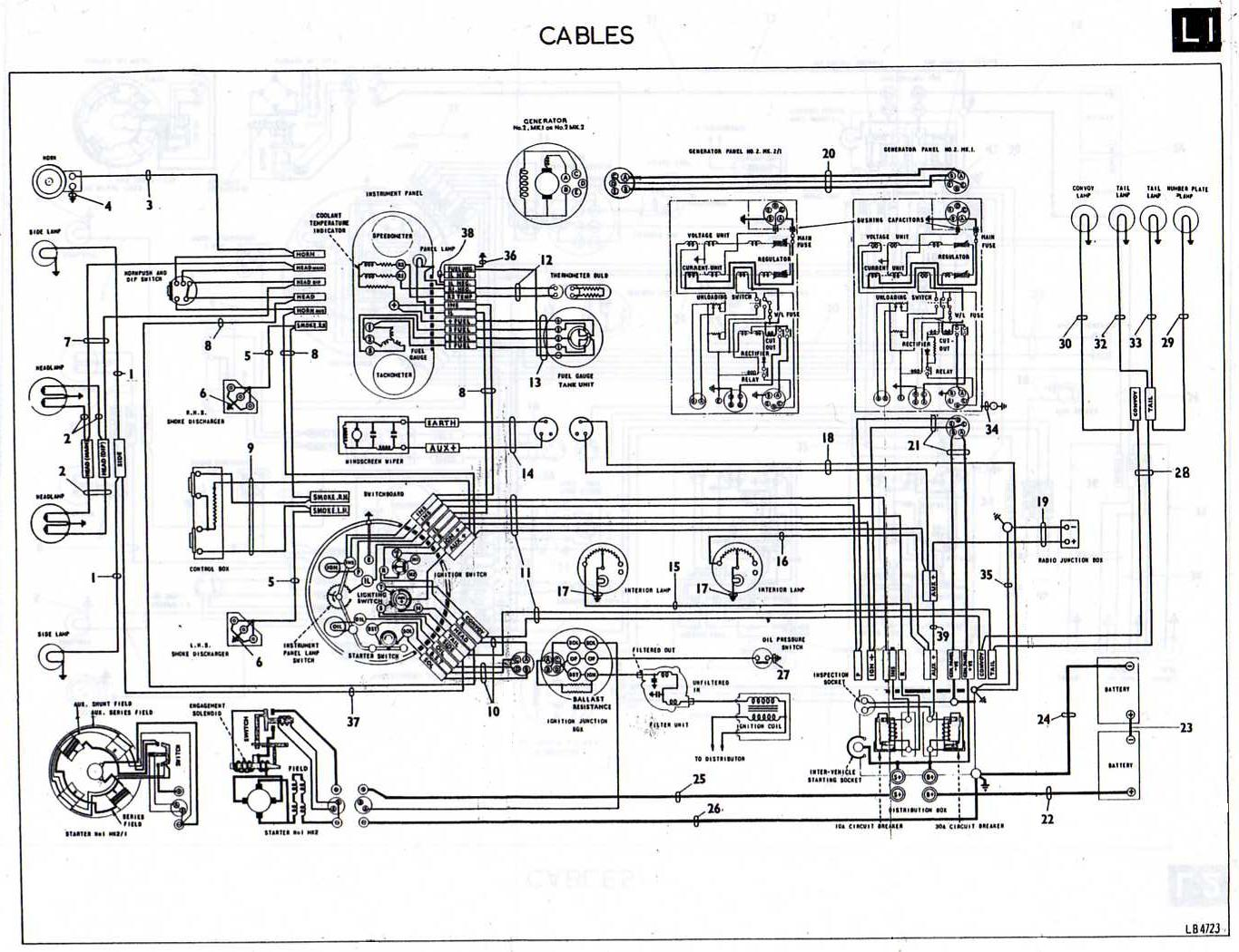 switchboard wiring diagram low voltage lighting daimler ferret electrical equipment