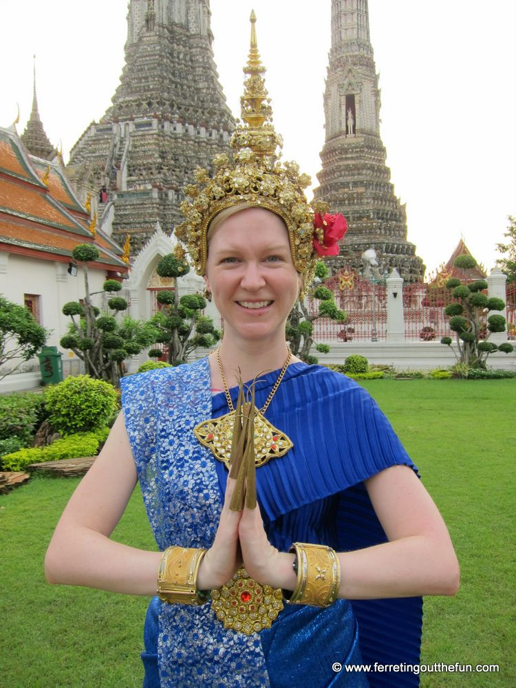 Striking a pose in Bangkok - I can't resist a good costume!