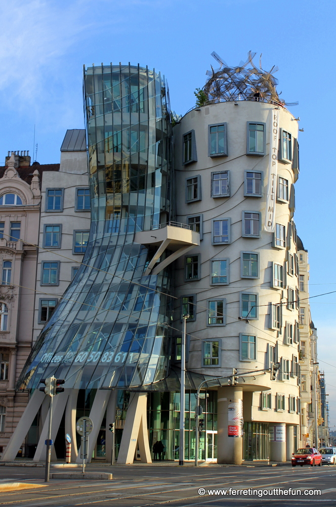 The Dancing House in Prague, Czech Republic