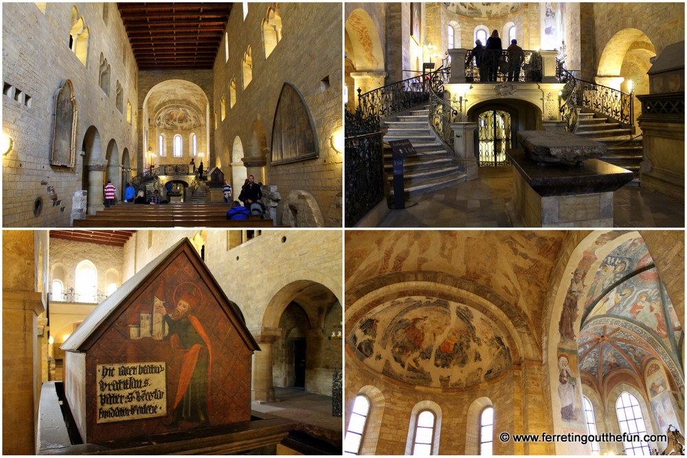St. George's Basilica is notable for its 10th century royal crypt and 12th century frescoes.