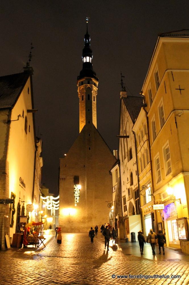 Christmas lights in medieval Tallinn, Estonia