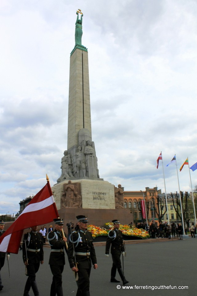 Celebrating Restoration of Independence Day in Riga, Latvia