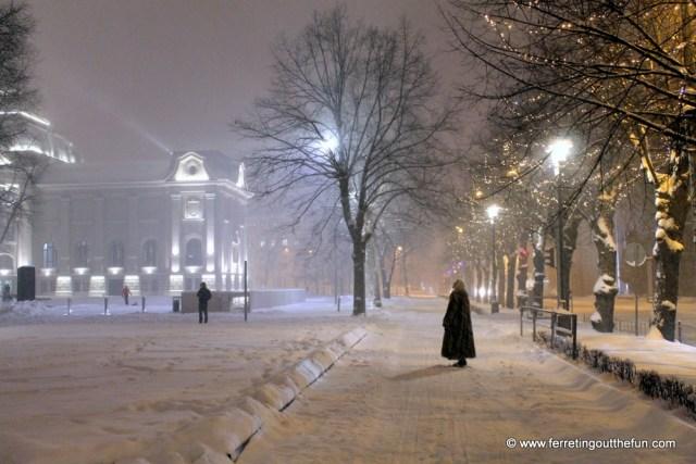 riga january snow