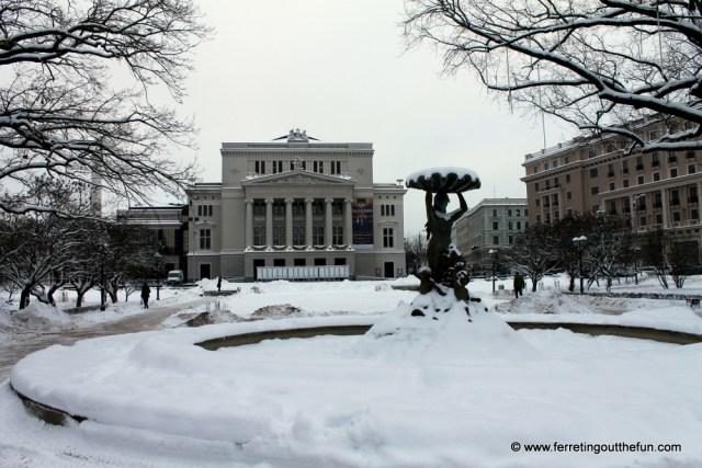 latvian national opera house riga