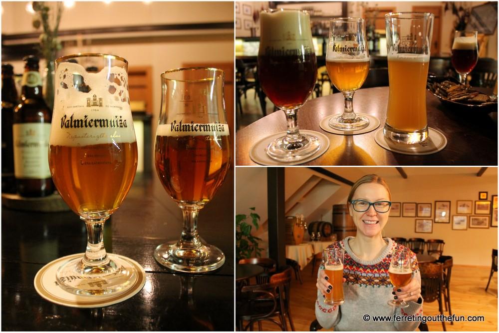 Valmiermuiza beer tasting