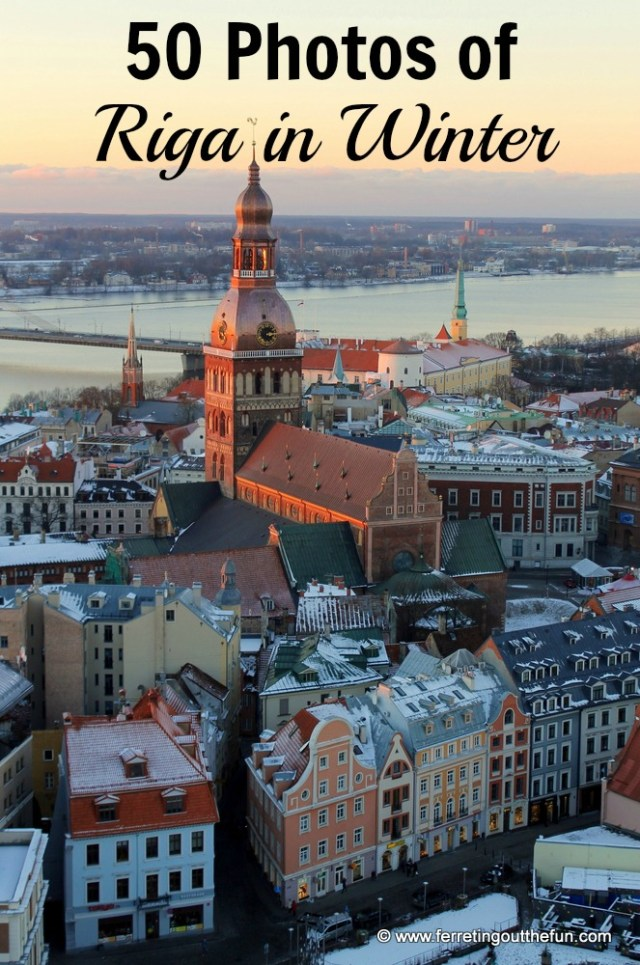 With a candy-colored Old Town fronting a frozen river and vast parks perfect for skiing, Riga, Latvia is an ideal winter travel destination!
