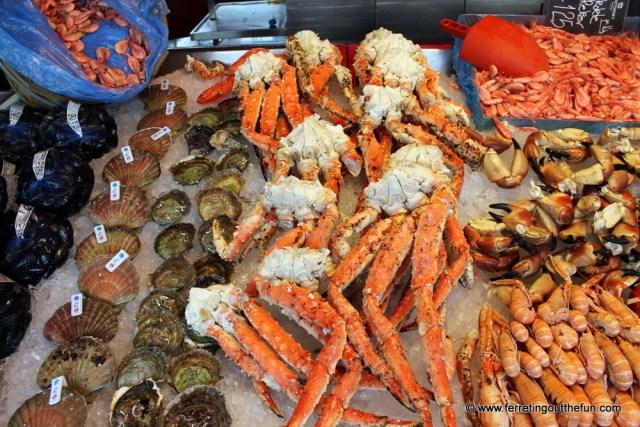 Fresh Seafood in Bergen Norway