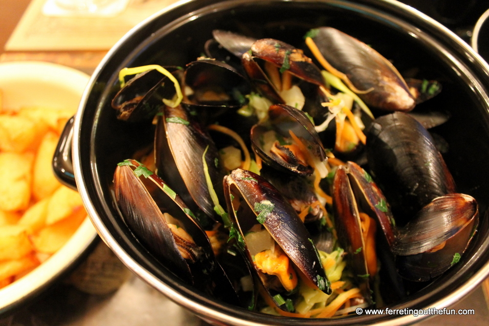 Belgian mussels in Riga, Latvia