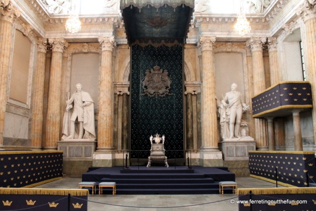 Stockholm Palace throne room