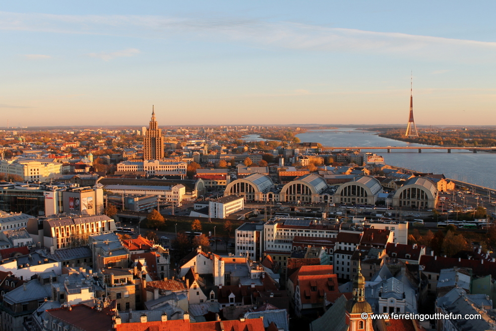 view of riga from st peters church