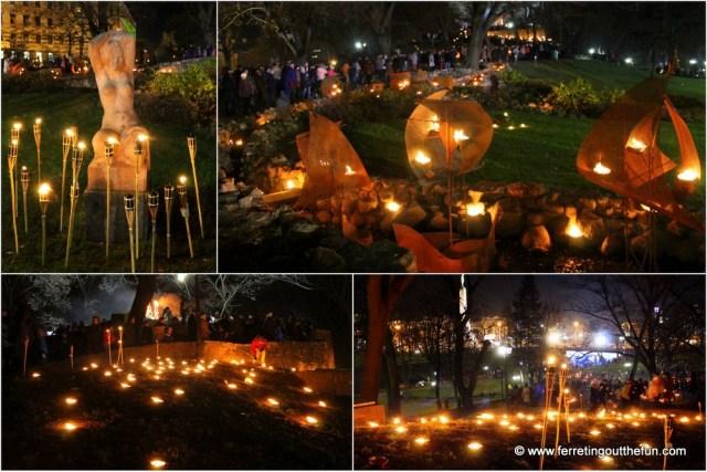 Riga November 18 Torch Procession