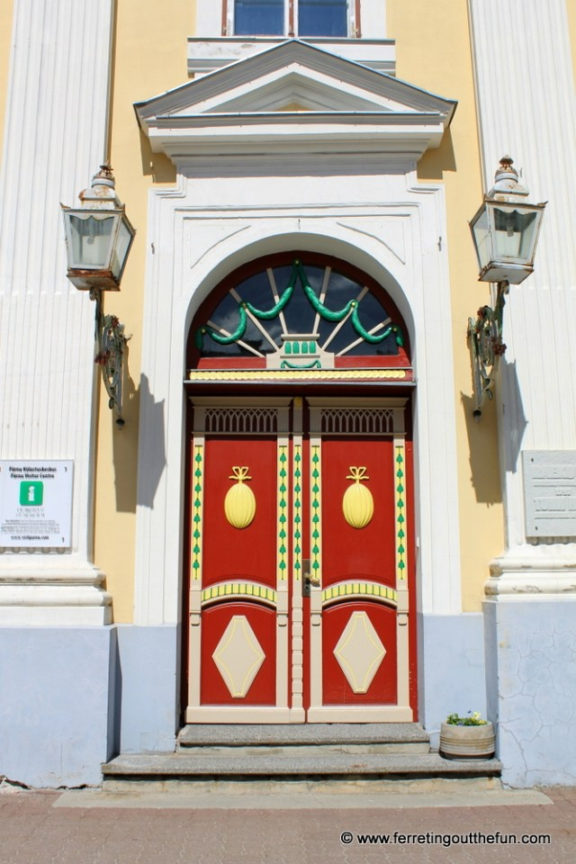 A beautiful door in Parnu, Estonia
