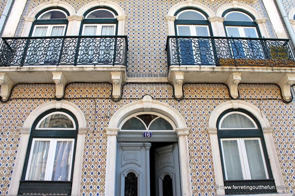 tile building lisbon portugal
