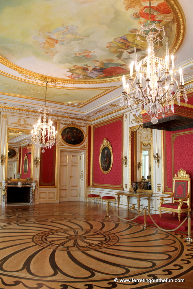 A beautifully restored room inside Warsaw Royal Castle