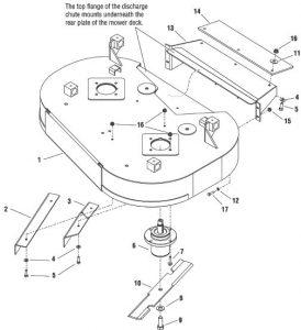15HP Kawasaki w/ 36 Rear Discharge Mower Deck Export