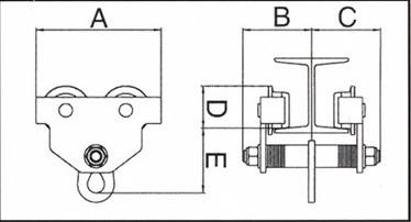Soporte polipastos tipo carro manual AY-2000-CTM 580960
