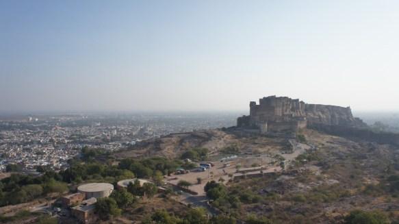 Blick auf Jodhpur und die Mehrangarh-Festung