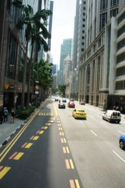 Unterwegs im Financial District Singapurs