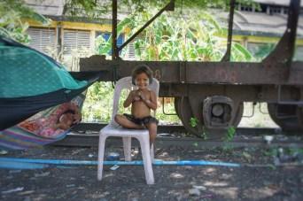 """So viele """"Hello"""" wie von kambodschanischen Kindern habe ich noch nie gehört (hier z.B. in Battambang)"""