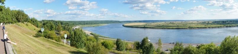 Von der Südseite Tomsks bietet sich dieser tolle Blick über den Tom-Fluss
