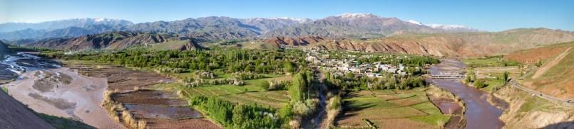 Blick auf Rajaei Dasht im Alamut Valley.