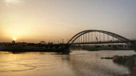 Sonnenuntergang über Ahvaz