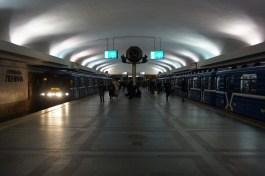 Unterwegs mit der Metro in Minsk
