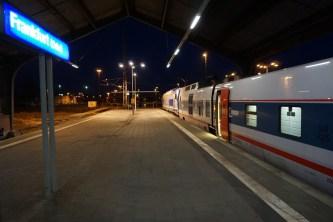 Ankunft in Frankfurt (Oder)