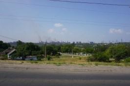 Mariupol ist eine bedeutende Industriestadt mit zahlreichen Metallurgiekombinaten.