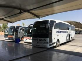Mein Reisebus in die Türkei –kurz vor der Abfahrt im internationalen Busterminal von Erbil