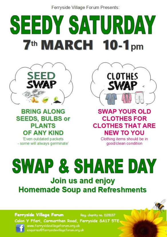 Seedy Saturday & Clothes Swap, 7th March 2020
