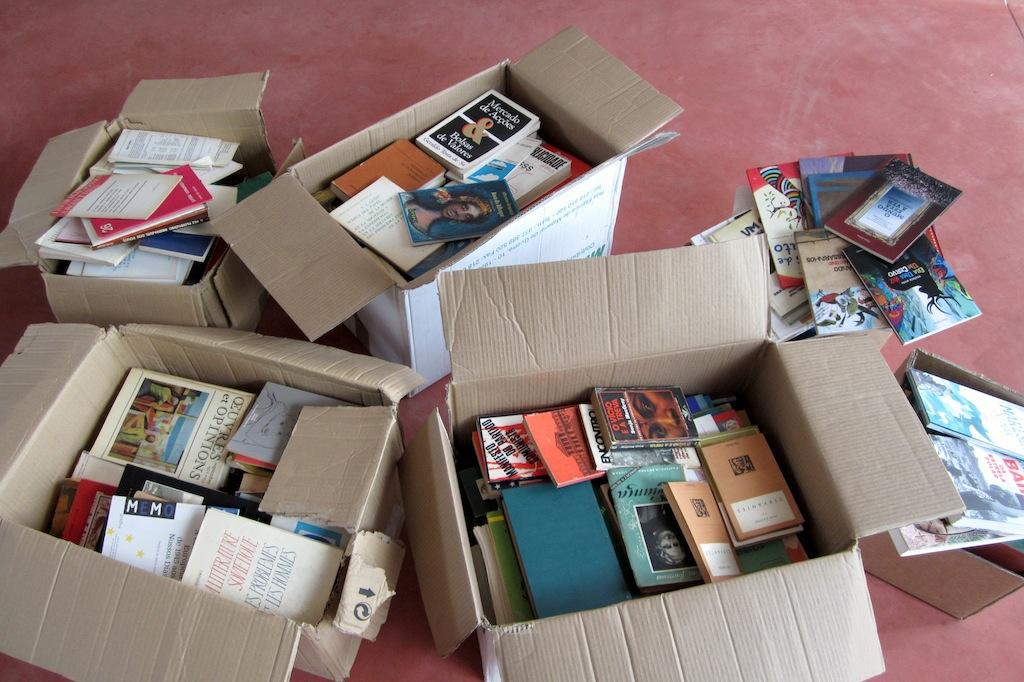 Primeira doação de livros