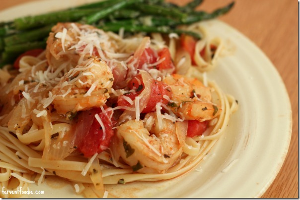 Spicy Shrimp Fra Diavolo Linguine