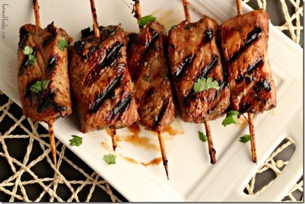 Asian Pork Tenderloin Skewers recipe