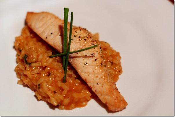 The Round Bistro - Salmon and Risotto
