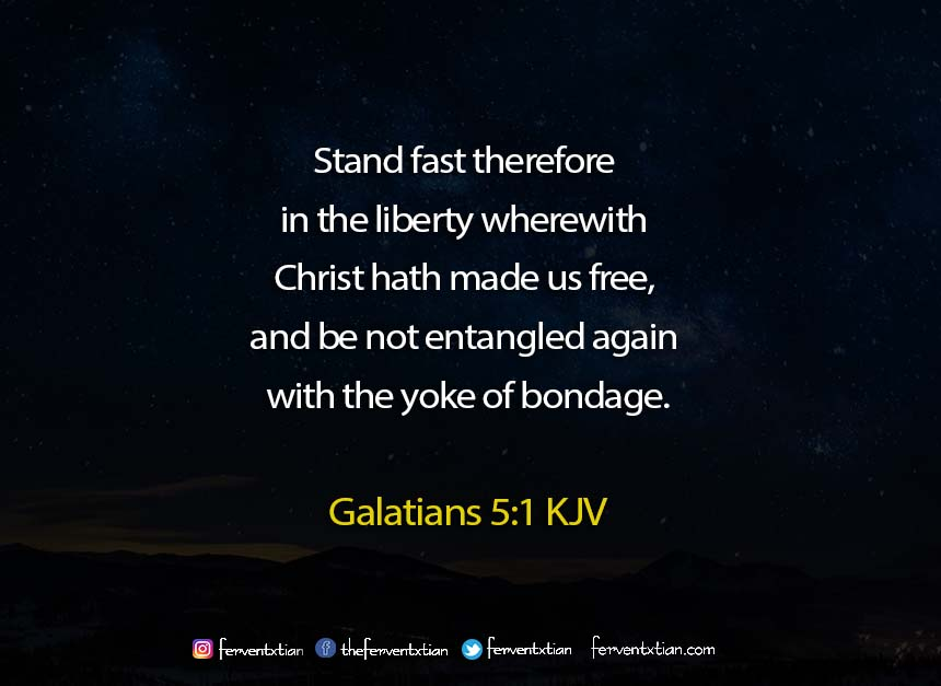 Word of the day: Galatians 5 vs 1 – Freedom in Christ