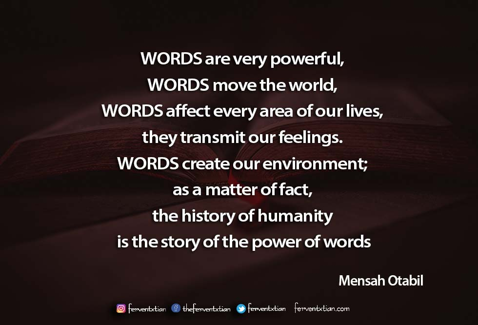 Inspirational Quotes – Mensa Otabil: The Power of Words